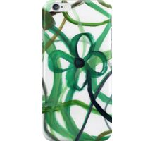 Green Intertwining Flowers Painting iPhone Case/Skin
