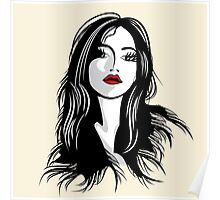 glamour girl with black hairs Poster