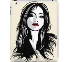 glamour girl with black hairs iPad Case/Skin