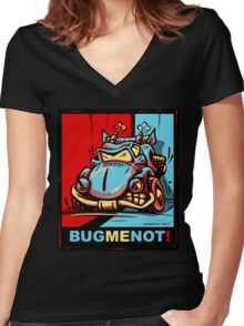 Bug Me Not! Women's Fitted V-Neck T-Shirt