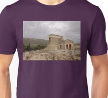 The palace of Knossos Minotaur or Labyrinth Restored North Entrance with charging bull fresco Unisex T-Shirt