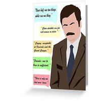 Minimalist Swanson Greeting Card