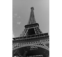Black and White Eiffel Tower Photographic Print