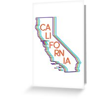 Neon California CA Greeting Card