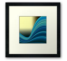 Colorful smooth twist light blue background Framed Print