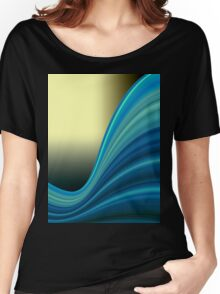 Colorful smooth twist light blue background Women's Relaxed Fit T-Shirt