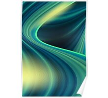 Colorful smooth twist light blue background Poster