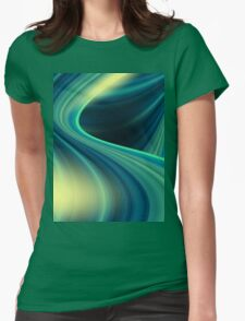 Colorful smooth twist light blue background Womens Fitted T-Shirt