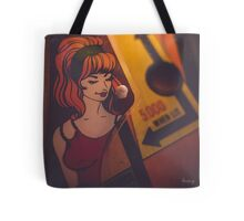 Vintage Pinball Machine Artwork Tote Bag
