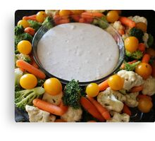 Vegetable Medley and dip Canvas Print