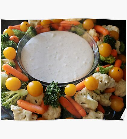 Vegetable Medley and dip Poster