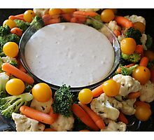 Vegetable Medley and dip Photographic Print