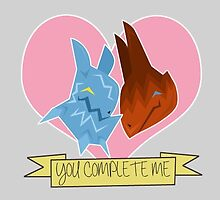 You Complete Me by jolteonjade