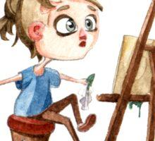 Artist at work Sticker