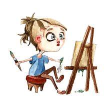 Artist at work by IzvergN