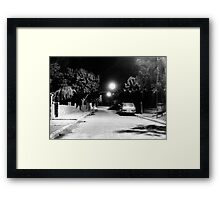 Night In The Street Of Gaziantep Framed Print