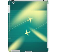 Background of flying planes iPad Case/Skin