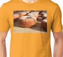 Homemade donuts with sweet powder sugar Unisex T-Shirt