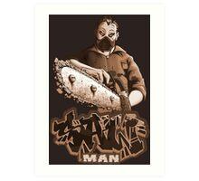 Saw Man Art Print