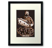 Saw Man Framed Print
