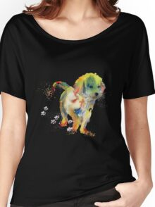 Colorful Puppy - Little Friend Women's Relaxed Fit T-Shirt
