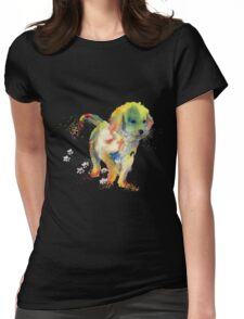 Colorful Puppy - Little Friend Womens Fitted T-Shirt