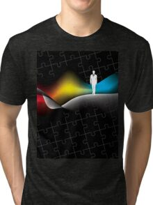 man with puzzle background Tri-blend T-Shirt