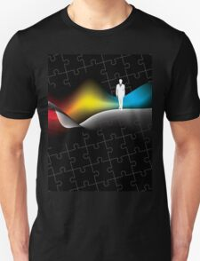 man with puzzle background T-Shirt