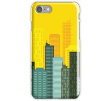 city skyline buildings vector iPhone Case/Skin