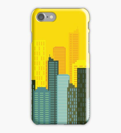city skyline buildings vector iPhone Case/Skin