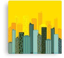 city skyline buildings vector Canvas Print