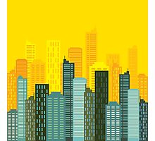 city skyline buildings vector Photographic Print
