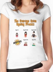 The Average Asian Ageing Process UK Spelling Women's Fitted Scoop T-Shirt