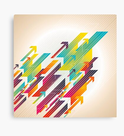 Abstract colorful business background Canvas Print