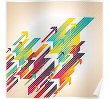 Abstract colorful business background Poster