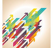 Abstract colorful business background Photographic Print