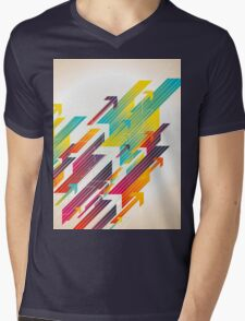 Abstract colorful business background Mens V-Neck T-Shirt