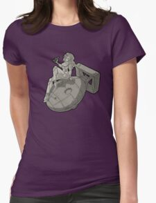 Pin Up Robot - Vintage  Womens Fitted T-Shirt