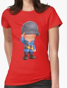 Chibi BLU Soldier Womens Fitted T-Shirt