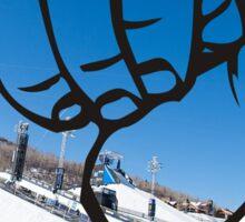 Snowboard Shaka Sticker
