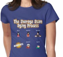 The Average Asian Ageing Process - Variant USA Spelling Womens Fitted T-Shirt