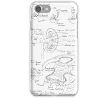 black and white kidney structure iPhone Case/Skin