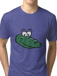 Crocodile sweet loving funny Tri-blend T-Shirt