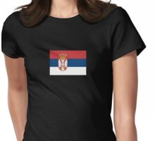 Serbia Flag T-Shirt - Serbian Republic Football Sports Team Supporter Phone Cover Sticker Duvet Womens Fitted T-Shirt