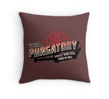 Greetings from Purgatory Throw Pillow