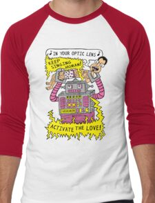 Robot Love Men's Baseball ¾ T-Shirt