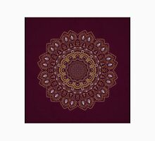 Gold Mandala Mosaic on Royal Red Background Classic T-Shirt