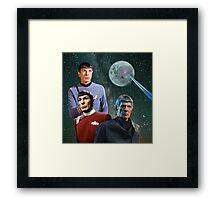 Three Spock Moon Framed Print
