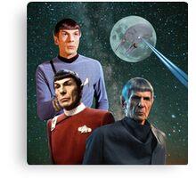 Three Spock Moon Canvas Print