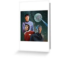 Three Spock Moon Greeting Card